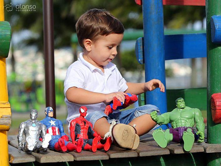 Ensaio infantil super heróis
