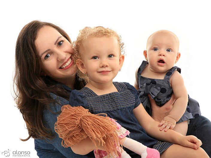Foto de família em estúdio