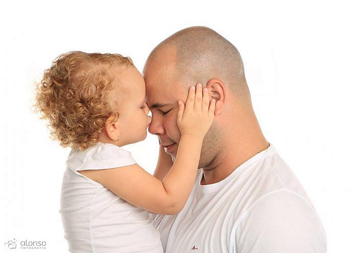 Fotografia familiar pai e filha