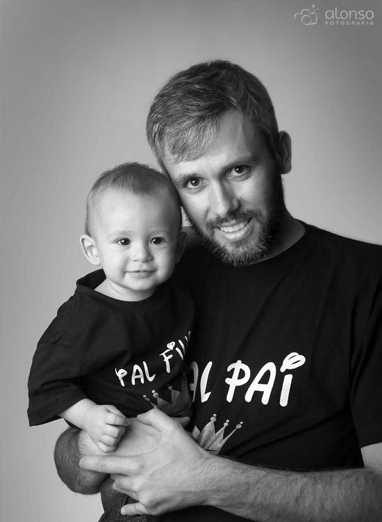 Pai e filho ensaio em estúdio