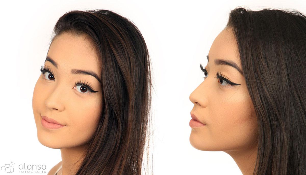 Fotos de maquiagem em estúdio fotográfico
