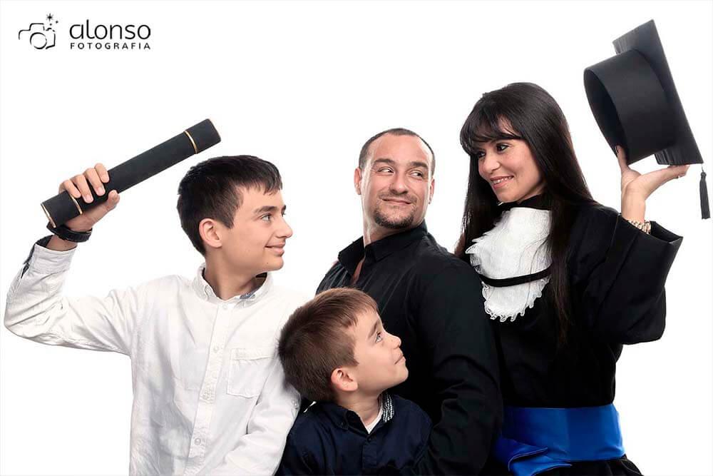 Ensaio de formatura com a família