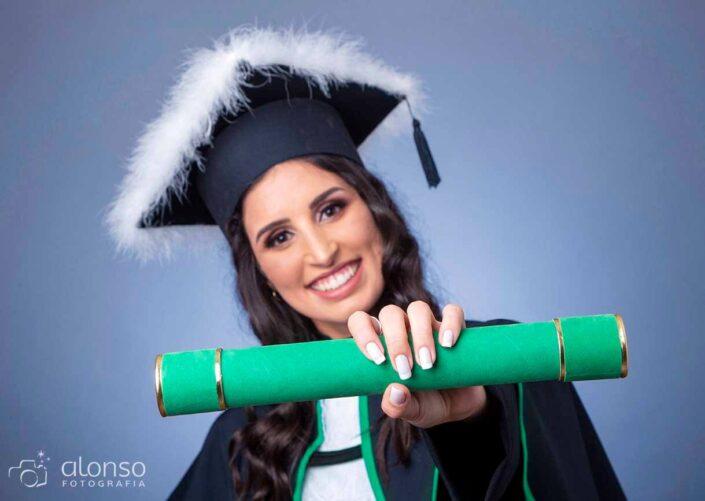 Formanda foto beca verde